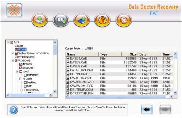 Undelete FAT Partition Data screen shot