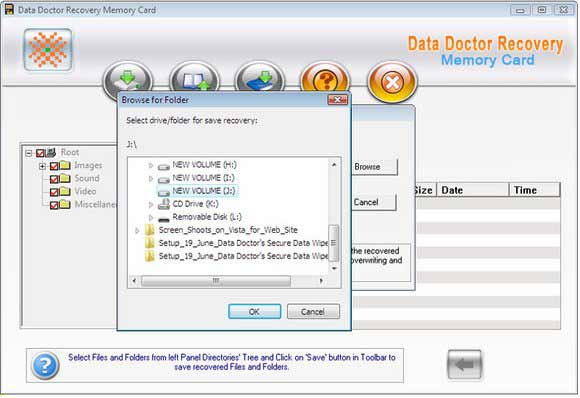 Multimedia memory card data file rescue tool