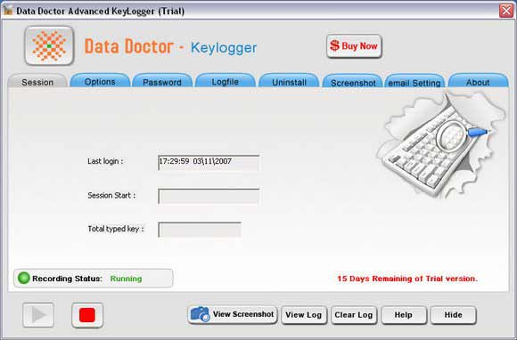 Keylogger Screen Capture Software screenshot