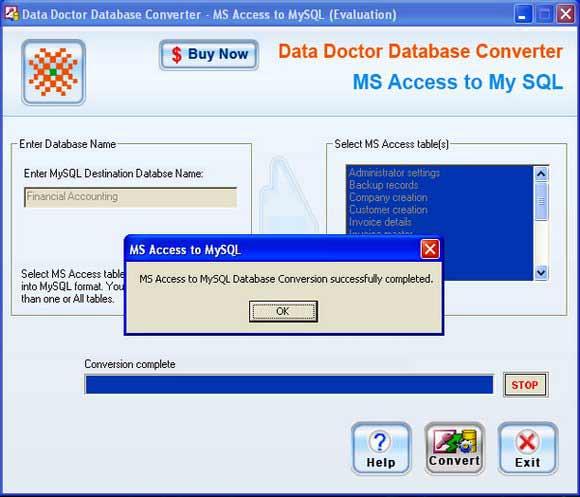 MS Access DB to MySQL Conversion tool