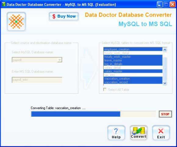 Migrate MySQL to Microsoft SQL Server