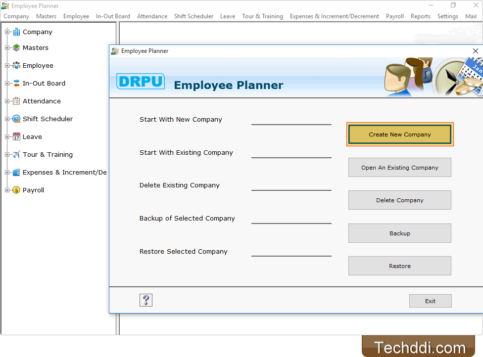 Software is developed to manage day to day employees scheduling activities