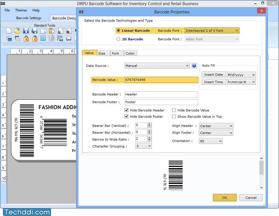 Barcode Software for Inventory Control design barcode labels