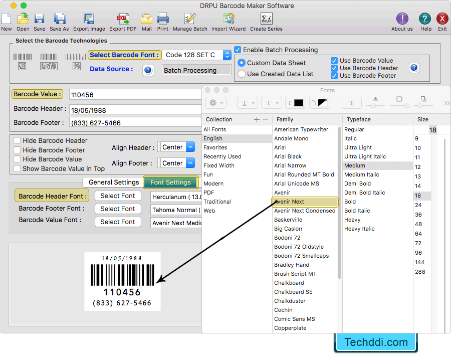 Barcode Label Maker Software (for MAC Machines) design