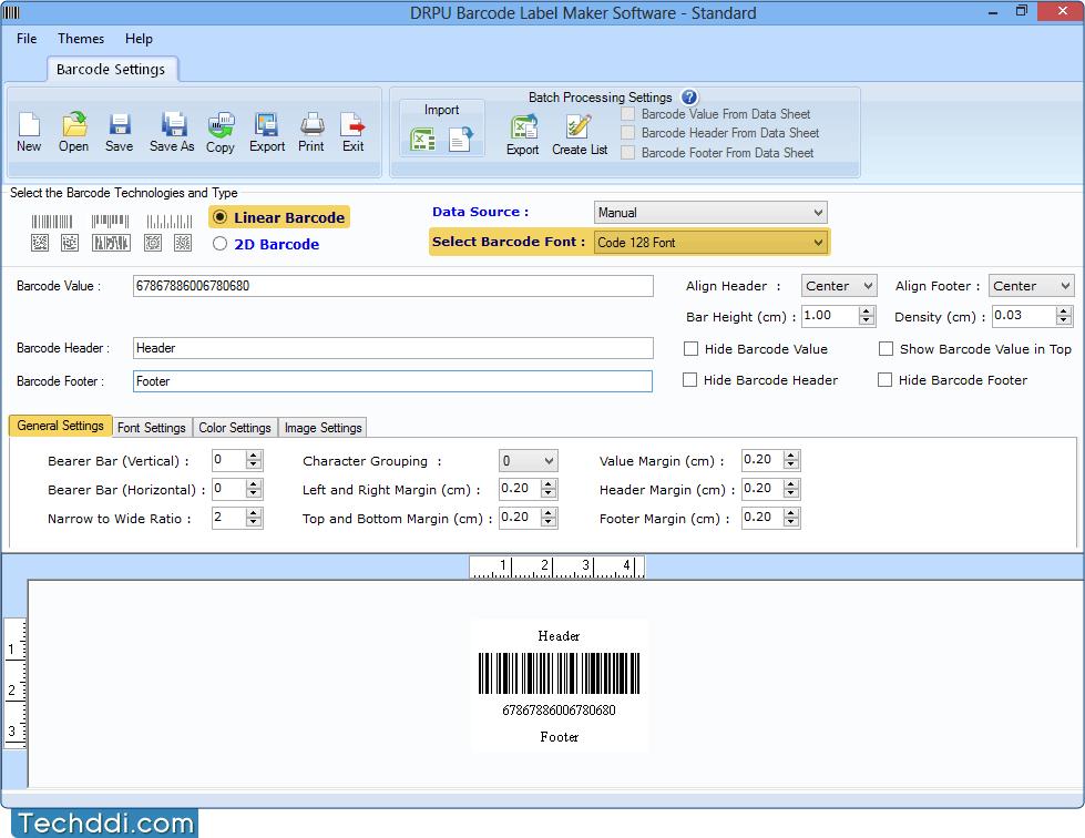 Barcode label creator software creates bar code series bulk