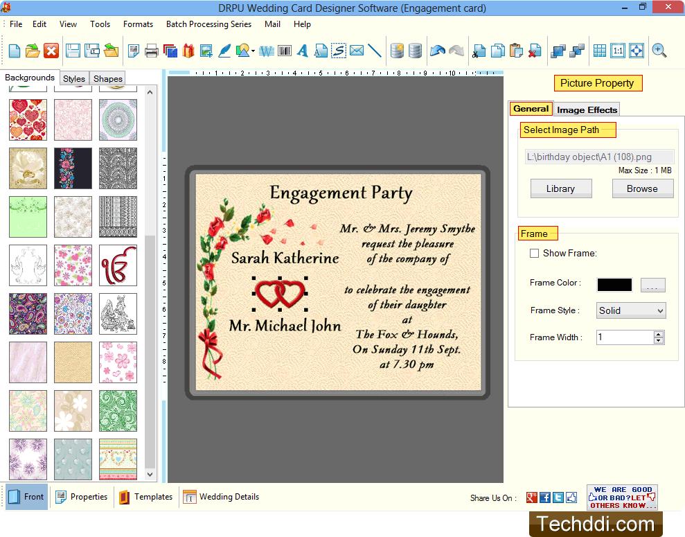 Wedding Cards Maker Software design and print wedding cards